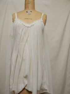 Oscar De La Renta Pink Label Rose Tulle Chemise White New with Tags