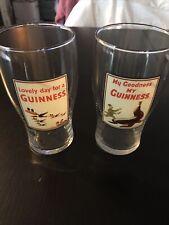 Set Of 2 Guinness Pint Glasses - Seal & Flying Toucans -(New)!