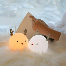 Cute Bedside Night Lamp Bedroom USB Rechargable Babybreasting Night Lamp