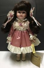 """1989 Seymour Mann Collection Doll 14"""" """"Frences"""" Ceramic Vinyl GUC w Stand"""