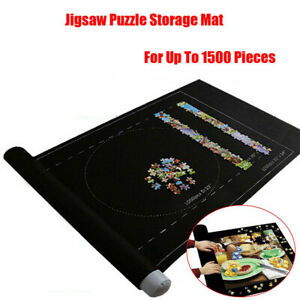 Jigsaw Pad Felt Puzzle Storage Mat Roll up Storage Game New up to 1500 Pieces