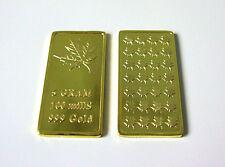 Médaille Lingots de 5 Grammes Maple Leaf Design élégant avec 999 doré