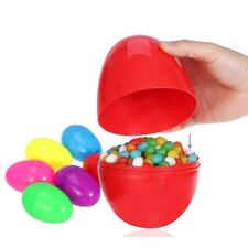 10pc Easter Plastic Eggs 2 Part Fill able Party Favor Toy Filler Surprise Hunt