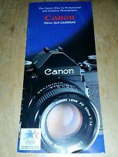 CANON 35mm SLR CAMERA BROCHURE
