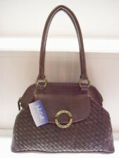Jody Coyote PURSE Handbag SPRUCE Satchel - Brown Woven * FREE USA SHIPPING