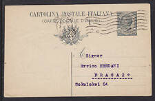 Italy H&G 48a used 1920 Postal Card to Czechoslovakia