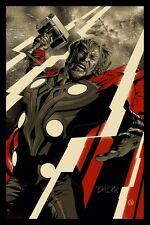 VHTF Martin Ansin Thor Avengers Movie Poster Art Print LE #/395 Mondo
