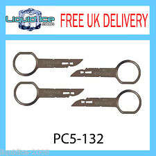 PC5-132 VW FOX POLO RADIO STEREO REMOVAL RELEASE KEYS X 4 PIN EXTRACTION CD CAR