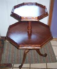 Walnut & Rosewood 2-Tier Table / Dumbwaiter Table