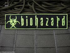 ill Gear BIOHAZARD  Patch Fluorescent Green ZOMBIE HUNTER 1X5 symbol sign