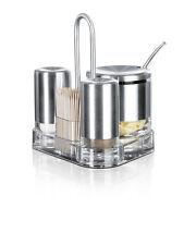 Emsa ACCENTA 3 Menage Salt Pepper Shakers Universal box/Spice container