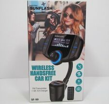 SF-99 Wireless Handsfree FM Transmitter + QC 3.0 Charger by Digital Sunflash