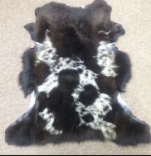 Genuine Spotted Sheepskin Rug Throw – shade of brown Super Fluffy And Cute Lamb
