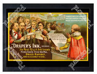 Historic Draper's Ink, Bewley & Draper Ltd, Dublin, c.1875 Advertising Postcard