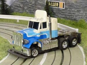 AURORA AFX / SPEED ST.   PETERBILT TRUCK   white - blue   USED   HTF!!!