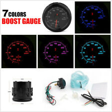 "Universal 2"" 52mm 12V Autos PSI Turbo Boost Gauge Meter 7-Color Backlight+Sensor"