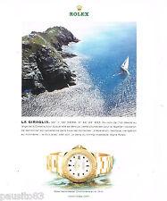 PUBLICITE ADVERTISING 065  2000  ROLEX montre YACHTING MASTER CHRONO LA GIRAGLIA