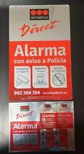 Placa alarma disuasoria grande + pegatinas Securitas Direct. MODELO 2019
