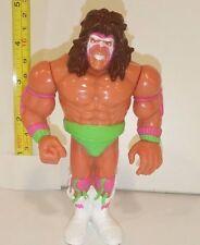 WWE WWF WRESTLING FIGURE ULTIMATE WARRIOR WITH ULTIMATE SMASH HASBRO 1990