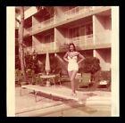 Vintage+PRETTY+BRUNETTE+Snapshot+Photo+1950s+BATHING+SUIT+POSE