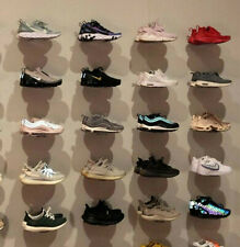 Floating Sneaker Display - Clear Plastic Wall Mount - Set of 20