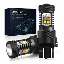 AUXITO 7443 Switchback LED Parking/DRL Turn Signal Light Amber White HD Len Bulb