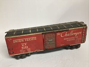 Marx Trains #3555 Union Pacific 9100 Challenger Merchandise Boxcar- 3/16 Scale