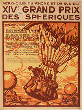 Original Poster - XIVth Spherical Grand Prix - Balloons - Lyon -Flying Club 1925