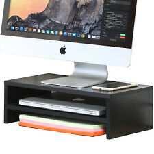 Computer Monitor Stand TV Shelf Riser 16.7 inch 2 Tiers Monitor Stand Save Space
