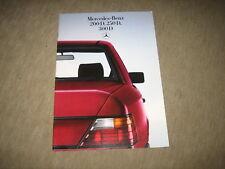 Mercedes 200 D, 250 D, 300 D Limousine W124 Prospekt Brochure von 12/1984