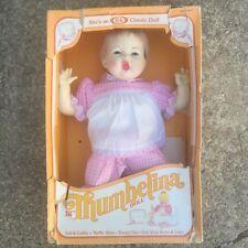 "NIB Vtg Thumbelina 18"" Baby Doll 1980s Blonde Ideal"
