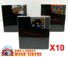 10x NINTENDO NES GAME CARTRIDGE - CLEAR PROTECTIVE BOX PROTECTOR SLEEVE CASE
