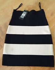 Viscose Stretch Knit Machine Washable Striped Skirts for Women