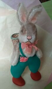 Steiff Plush Mohair Easter Bunny Rabbit, Prob Limited Edition Reproduction Line
