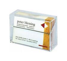 sigel Visitenkarten-Box,Hartplastik,glasklar,mit Deckel