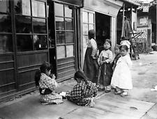 Photo. ca 1914. Korea.  Japanese and Korean children on street