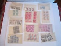 LARGE LOT OF U.S. STAMP BLOCKS - MOSTLY POST MARKED - BOX OFC-2