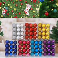 Glitter Christmas Balls Baubles Xmas Tree Hanging Ornament Xmas Decor UK