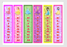 PERSONALISED DISNEY PRINCESS CHILDRENS BOOKMARKS LAMINATED X 6 TEACHERS/PARENTS