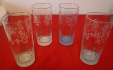Disney Drinking Glasses Mickey & Minnie Mouse Spring Time Lot Of 4 NEW