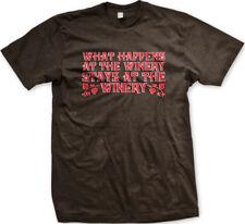What Happens At The Winery Stays Wine Drunk Get Vino Secret Make Men's T-Shirt