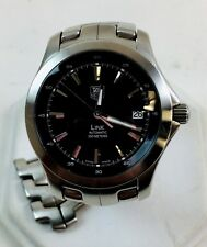 Tag Heuer Link Automatic Watch - WJF2110 - Black Dial - Original Bracelet - READ