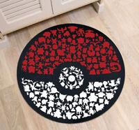 Pokemon Go Ball Circle Velboa Floor Rug Carpet Room Doormat Non-Slip Mat 002