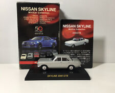 1/64 Kyosho 50th Anniv NISSAN SKYLINE 2000 GTB Diecast Car Model SILVER
