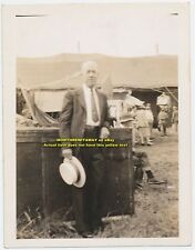 1945 Photo Unknown Man Circus People Tent Trunks Ringling Bros. Barnum & Bailey
