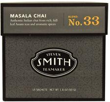 Masala Chai Tea Blend Number 33, Steven Smith Teamaker, 15 sachets 1 pack