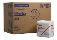 Kimberly Clark 8387 WYPALL  X70  Wipes 1 Pack of  76 White  sheets