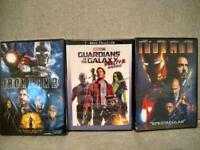 Guardians of the Galaxy Vol. 1 & 2  DVD + Iron Man 1 & 2 (4 Movie Bundle) NEW