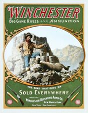 Winchester Big Game Hunting Vintage Retro Tin Sign 13 x 16in
