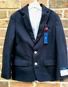 NWT IZOD Boys Size 8 Regular CLASSIC NAVY BLUE Blazer Suit Sport Coat MSRP $85 A